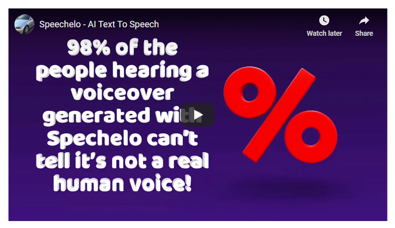 Text To Speech, Instantly Transform Any Text Into A 100% Human-Sounding VoiceOver with only 3 clicks!